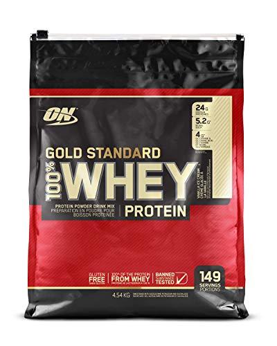 Optimum Nutrition Gold Standard 100% Whey Proteína en Polvo, Helado de Vainilla - 4540 g