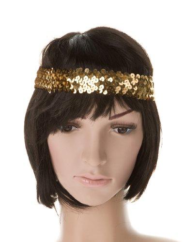 Stirnband Pailletten gold keine Größe