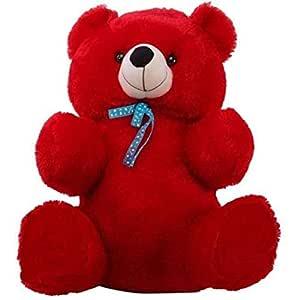 Buttercup Soft Toys Extra Small Very Soft Lovable/Huggable Teddy Bear for Girlfriend/Birthday Gift/Boy/Girl - 2 Feet (60 cm, Red)