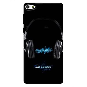 Gionee Pioneer 2 Printed Back Cover (Soft Cover) music is life