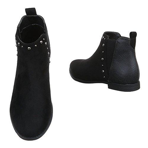 Ital-Design , Bottes Chelsea femme Noir