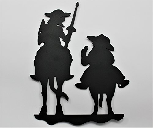 Don quijote y sancho panza de forja, para colgar en la pared. Made in Spain. Muy decorativo 25cm x 18cm