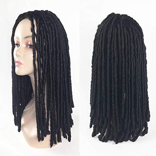 DYHOZZ Perücke, Lange geflochtene Perücke, Rollenspielperückenhaar, synthetische Lange Perücke, hitzebeständige Faser, Haar -26in Perücke (Color : A)