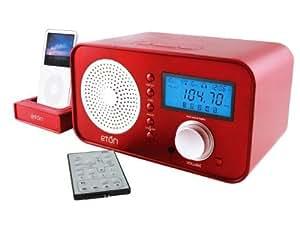eton sound 100 poste radio design am fm avec rds station d 39 accueil pour ipod t l commande rouge. Black Bedroom Furniture Sets. Home Design Ideas