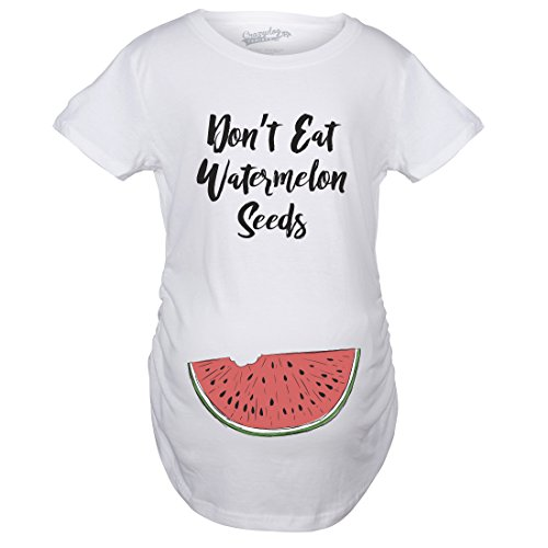 Crazy Dog Tshirts - Maternity Don't Eat Watermelon Seeds Tshirt Funny