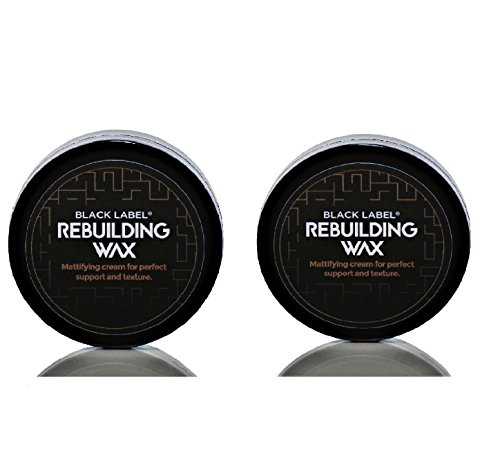 BLACK LABEL® COMBI Pack III 2 x Das Haarwachs BlackLabel® Rebuilding Wax 75 ml mit Zedernholz und Lemongras - Hair Wax - Haarwachs (Crew Black Pearl)