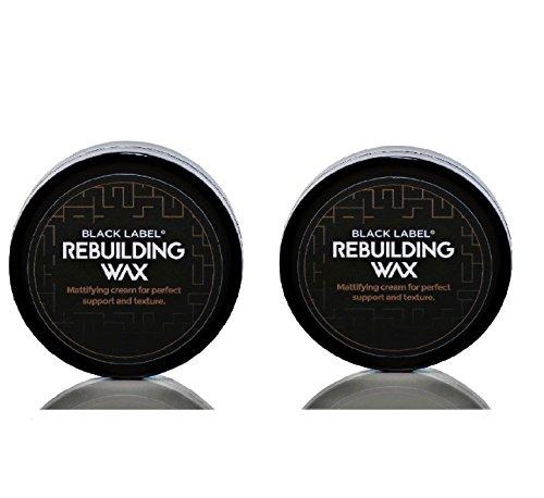 BLACK LABEL® COMBI Pack III 2 x Das Haarwachs BlackLabel® Rebuilding Wax 75 ml mit Zedernholz und Lemongras - Hair Wax - Haarwachs (Black Crew Pearl)