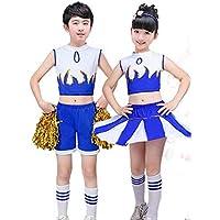 SMACO Juegos de porristas, animadoras Infantiles, Gimnasia Infantil, Trajes aeróbicos,Blue,120CM