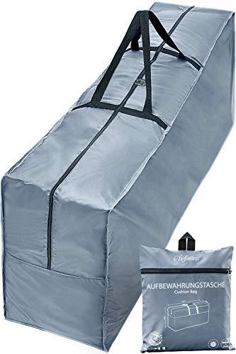 Chefarone Schutzhulle Fur Auflagen 125 X 50 X 32 Cm Wasserabweisende Gartenpolster Aufbewahrung Tasche Mit Tragegriff 250d Polyester