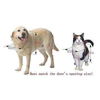 Annonguk Chatière magnétique avec cadre en aluminium pour chien et chat Grand modèle