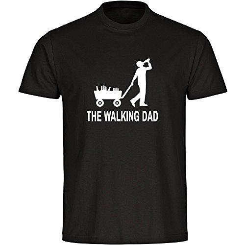 T-Shirt Bollerwagen The Walking Dad schwarz Herren Gr. S bis 5 XL, Größe:L