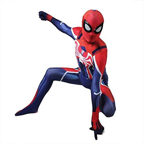 ASJUNQ Bewundere Comic-PS4 Spider-Man Strumpfhosen Cosplay Set Siamesisches Korsett Halloween Theme Party Movie Requisiten,Child-XS