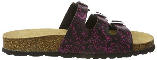 Lico - Bioline Colour, Pantofole Donna Schwarz (SCHWARZ/WEISS/ROT)