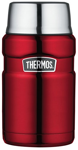 Thermos Isolierbehälter, 710 ml, Edelstahl Cranberry Red (Lunch Hot Thermos Box)