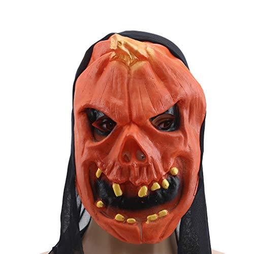 Weiy Halloween Maske Ernte Scary Pumpkin Head Mask Kostüm Halloween Cosplay Party Prop Geschenke, Faule Zähne (Faul Kostüm Lustig)