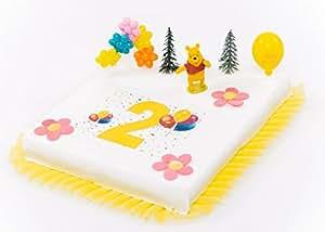 Tortendeko 2 geburtstag winnie pooh 9 teilig tortenaufleger kuchen deko torten deko - Winnie pooh kuchen deko ...