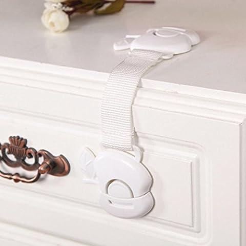 IGEMY 1PC Kids Child Baby Proofing Safety Locks Door Fridge Cupboard Cabinet Drawer (White)