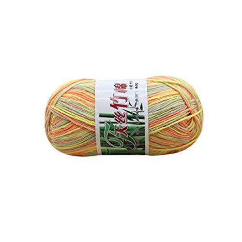 Tree-on-Life Weiche Tencel Garn Multi Strang Thread Hand Strickgarn häkeln Baby Garn Wolle gewebt Bambus Baumwolle Silk Line Strickwaren (Flash Baumwolle Bälle)