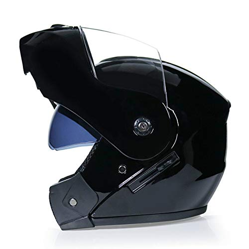 Berrd Nuovo casco da moto a doppia lente Visiera parasole Flip Casco da moto fuoristrada Caldo antivento Sabbia antipolvere a2 M