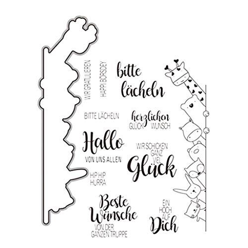 Kalttoy Silikonstempel mit Stanzschablonen Stanzformen Scrapbooking Album Foto DIY Geburtstag Weihnachten Valentinstag Thanksgiving Geschenke