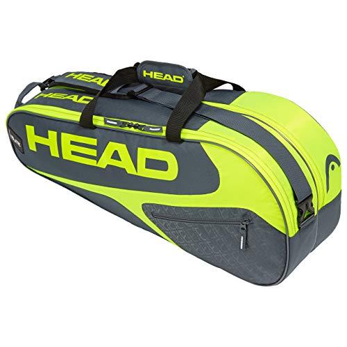 Head Elite 9R Supercombi Portaracchette, Unisex, 283729GRNY, Grey/Neon Yellow, Taglia Unica