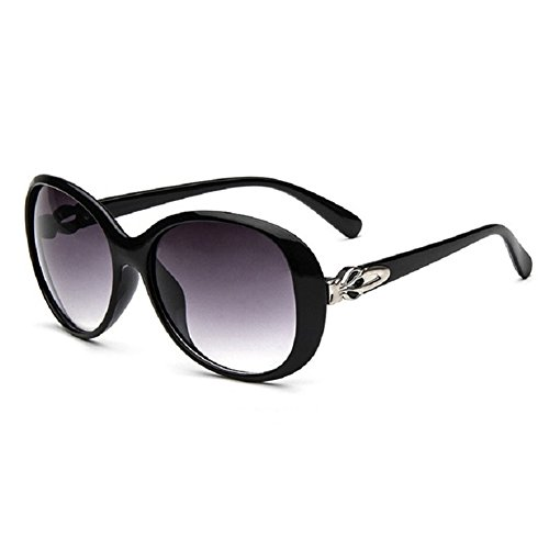 O-C da donna Classico & Fashion WAYFARER occhiali da sole 56 MM nero Black
