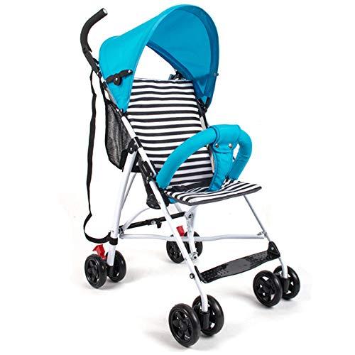 Cochecito De Bebé, Ultra Ligero, Plegable, Paraguas Para Bebé, Simple, Para Niños, Amortiguador De Golpes, Carrito De Gasa (Color: Azul)
