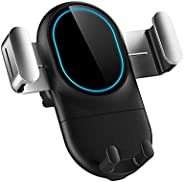 PATIOSNAP Wireless Car Charger, Fast Wireless Charger Gravity Car Phone Holder, Auto-Clamping Car Air Vent Mou