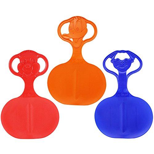 Com-Four® - 3deslizadores para la nieve, con diseño en el mango, en diferentes colores, 3 Stück - Motiv