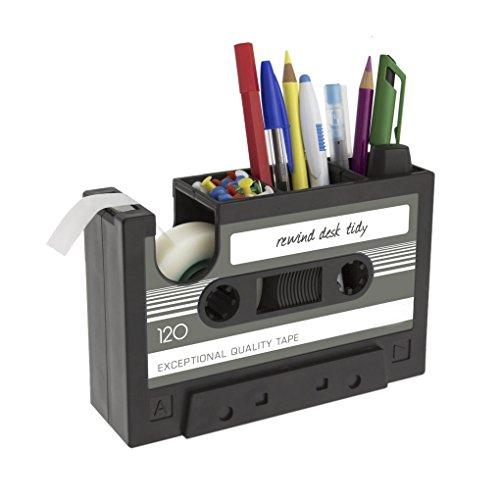 Créatif Pot à Crayons Porte-stylos Forme Cassette Ensemble de...