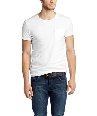 edc by ESPRIT Men's 024CC2K001 Crew Neck Short Sleeve T-Shirt, White, Small