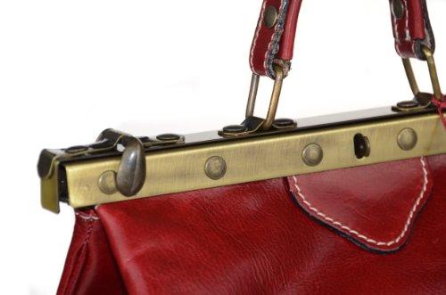 Bags4Less Ceinture en cuir à rivets Style vintage taupe