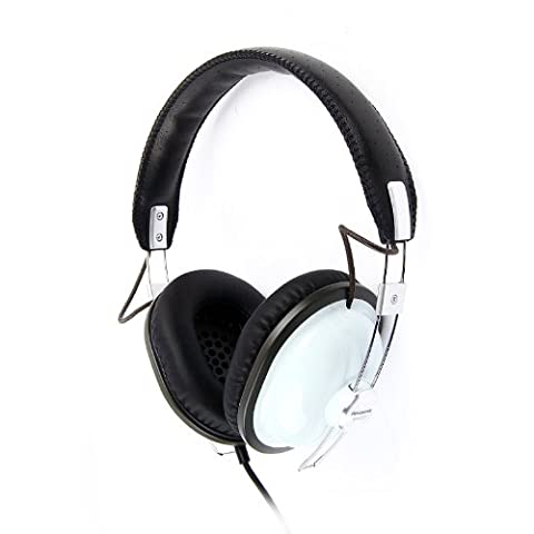 Panasonic RP-HTX7AE-A Lightweight Retro Style Monitor Headphone with Single Side Cord & One Side Monitoring System - Blue
