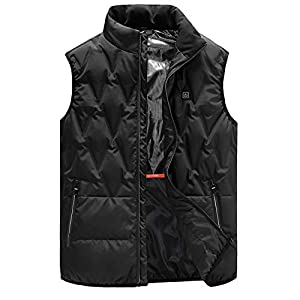 41FzsmkgOrL. SS300  - DZX Heated Vest/Electric Jacket,Warm Body Washable With USB For Outdoor Travel Racing Bike Skiing (Unisex/Black)