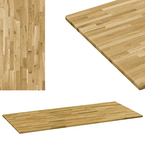 VidaXL Roble Tablero Mesa Rectangular Madera 23 mm