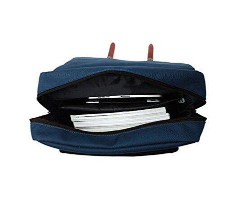 Vintage Unisex Casual Canvas Rucksack Rucksack Schultasche Ranzen Tasche Wandern Navy-blau
