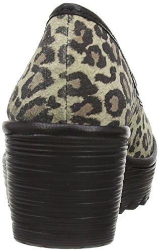 Fly London Yalu, Chaussures de ville femme Jaune (Leopard/Black)