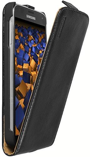 mumbi Premium Leder Flip Case für Samsung Galaxy S5 / S5 Neo Tasche