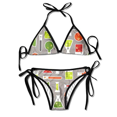 Zcfhike Science Fair Test Women Sexy Low Waist Bandage Bikini Beachwear Swimsuit
