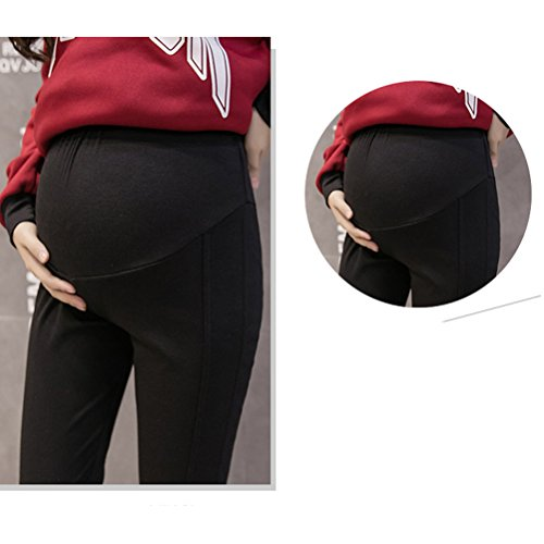 Zhhlaixing Autumn Winter Thin Maternité Trousers Pregnancy Pants Comfortable Leggings gray