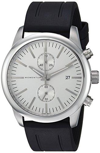 Momentum Men's Analog Japanese-Quartz Watch with Rubber Strap 1M-SN26S1B