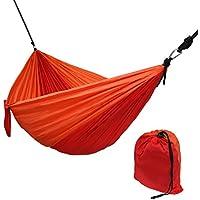 Hängematte Ultraleicht aus Fallschirm Nylon 265 x 140 cm in Verschiedenen Farben Traglast 300 kg Reisehängematte Outdoor Camping Reise-Hängematte inkl. Befestigungs-Set