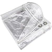 MY1MEY Transparente Lona Impermeable Exterior con Ojales,Protección Solar y Resistente a Rotura,Plegable(3 * 6m(9.8 * 19.7ft))