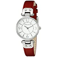 Anne Klein Womens Quartz Watch, Analog Display and Leather Strap 10-9443WTRD
