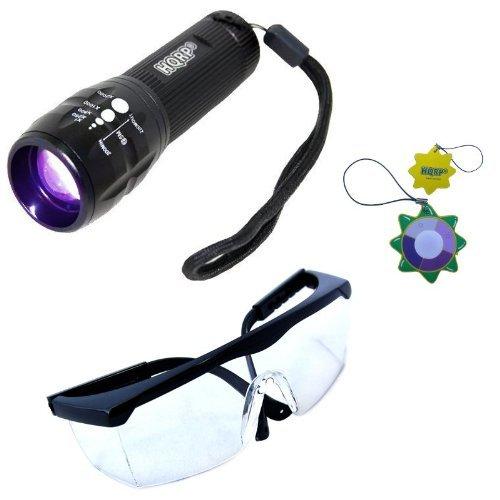 HQRP Profesional Linterna 3W UV Ultravioleta 390 nM