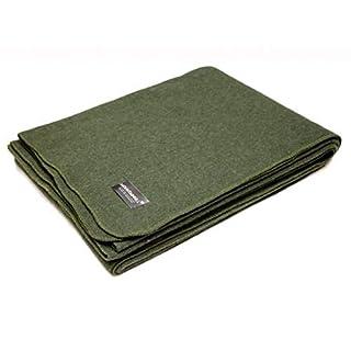AB durable army wool Blanket (225 150 cm/Olive)