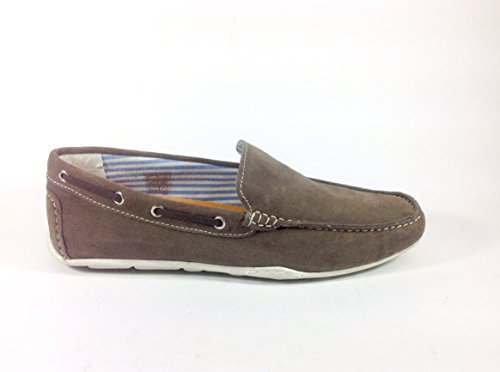 Chaussures homme casual Mocassino 2105 en daim Multicolore - gris