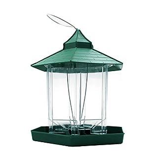 AiSi Wild Bird Hanging Feeder Garden Seed Feeders Weatherproof Green