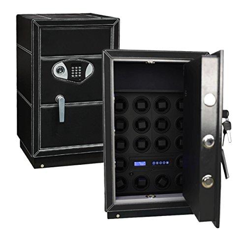 Safewinder® 18 DELUXE BLACK Uhrenbeweger & Safe - 3