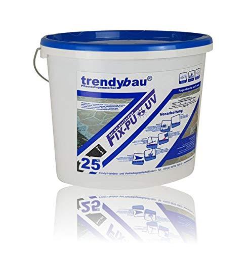 trendybau 1K PU Pflasterfugenmörtel, UV-stabil, für leichte Verkehrsbelastung - 25 kg (basalt) - NEUHEIT: wassertolerante Rezeptur